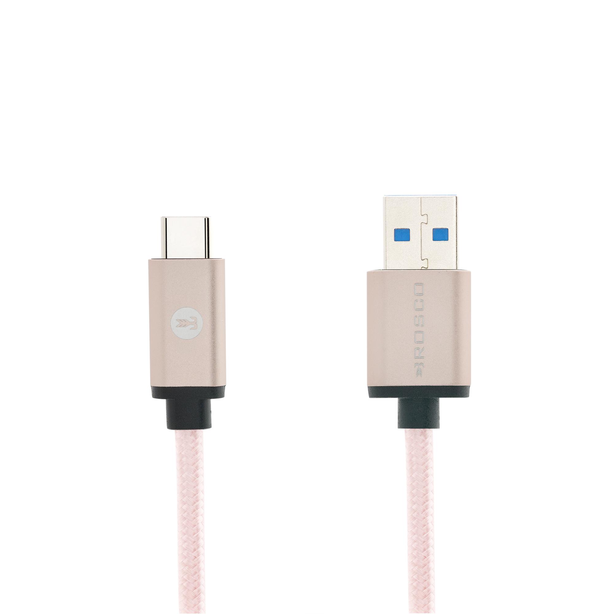 Кабель USB-TYPE-C 3.0 розовый фирмы Brosco купить в Sony Centre