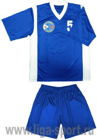 Футбольная форма синяя пошив Лига-Спорт