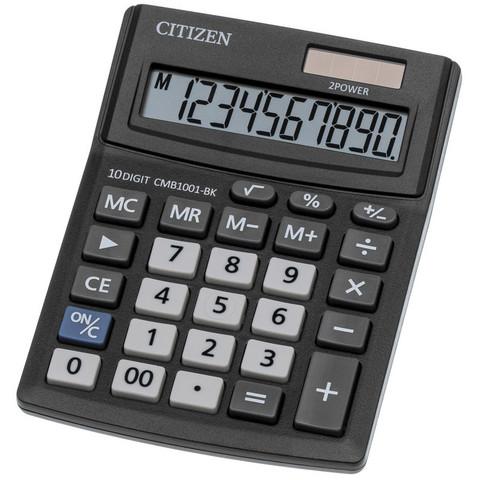 Калькулятор настольный КОМПАКТНЫЙ Citizen BusinessLine CMB1001-BK в пластиковом корпусе с 10- разрядным ЖК-дисплеем