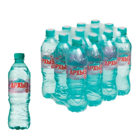 Вода минеральная Архыз негазированная 0.5 л (12 штук в упаковке)