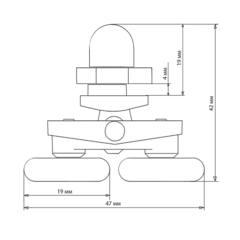 Ролик для душевой кабины В -27 (рис.4)