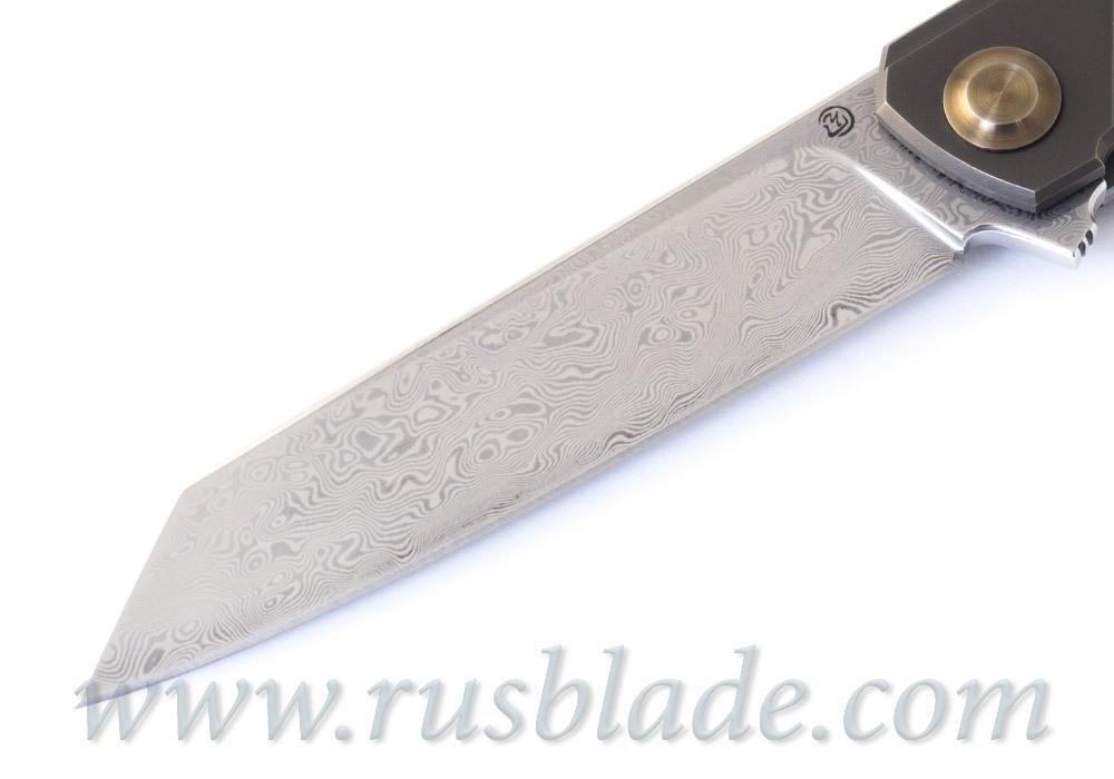 Cheburkov Dragon Damascus Folding Knife Limited