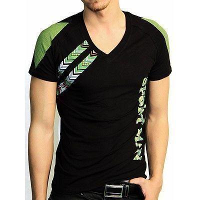 Мужская футболка черная с зеленым принтом Doreanse 2575