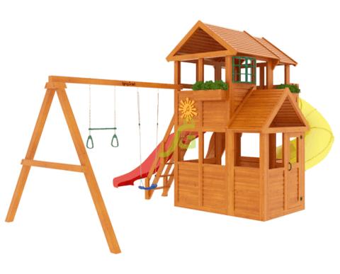 Детская площадка Клубный домик 3 с трубой