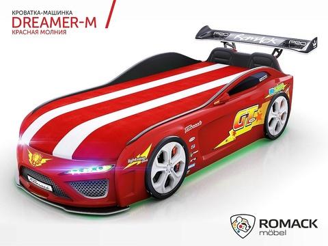 Кровать-машина Romack Dreamer Молния Красная