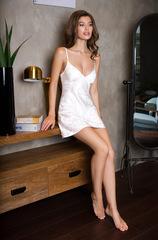 Платье белое шелковое домашнее