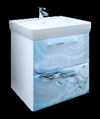 Тумба под раковину Marka One Visbaden 60П 2 ящика, blue marble