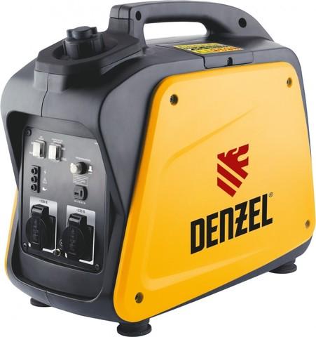 Генератор инверторный GT-2100i, X-Pro 2.1 кВт, 220 В, бак 4,1 л, ручной старт Denzel