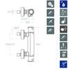 Смеситель термостатический для душа и душевым комплектом BLAUTHERM 943402BTR - фото №2