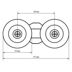 Размеры ролика B-27 19 мм (рис.5)