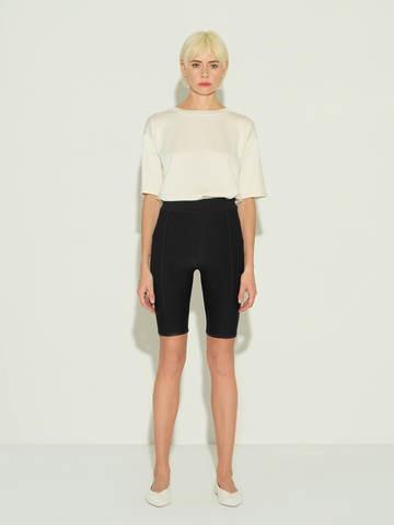 Женские шорты черного цвета из 100% шелка - фото 2