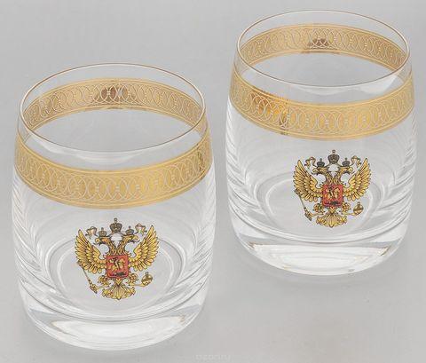 Подарочный набор из 2 хрустальных стаканов для виски «Министерский», 290 мл