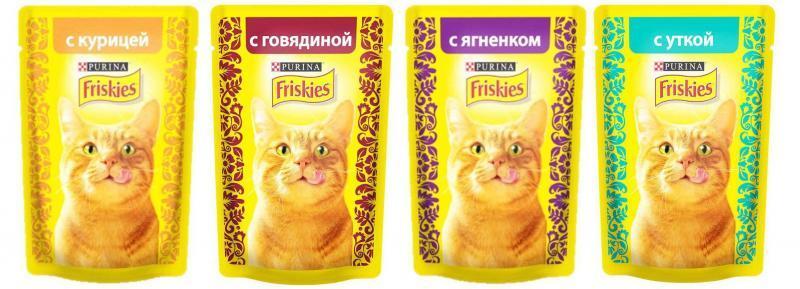 Friskies для взрослых кошек 85 гр.