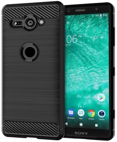 Чехол Sony Xperia XZ2 Compact цвет Black (черный), серия Carbon, Caseport