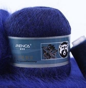 Пряжа Пух норки 856 сине-черный