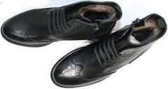 Высокие зимние ботинки мужские  LucianoBelliniBC3801L-Black .
