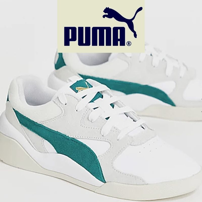 Aeon Heritage trainers in white & green женский
