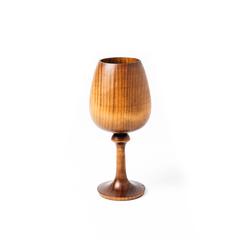 Деревянный фужер, бокал для вина из дерева Сибирского кедра, фото 2