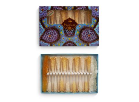 Сахар леденцовый в подарочной упаковке  / белый/ шафран, 248 гр.