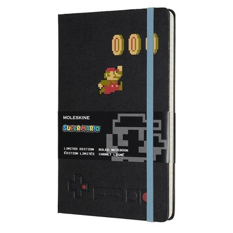 Блокнот Moleskine LIMITED EDITION SUPER MARIO LESMQP060MA Large 130х210мм 240стр. линейка черный Mario in Motion