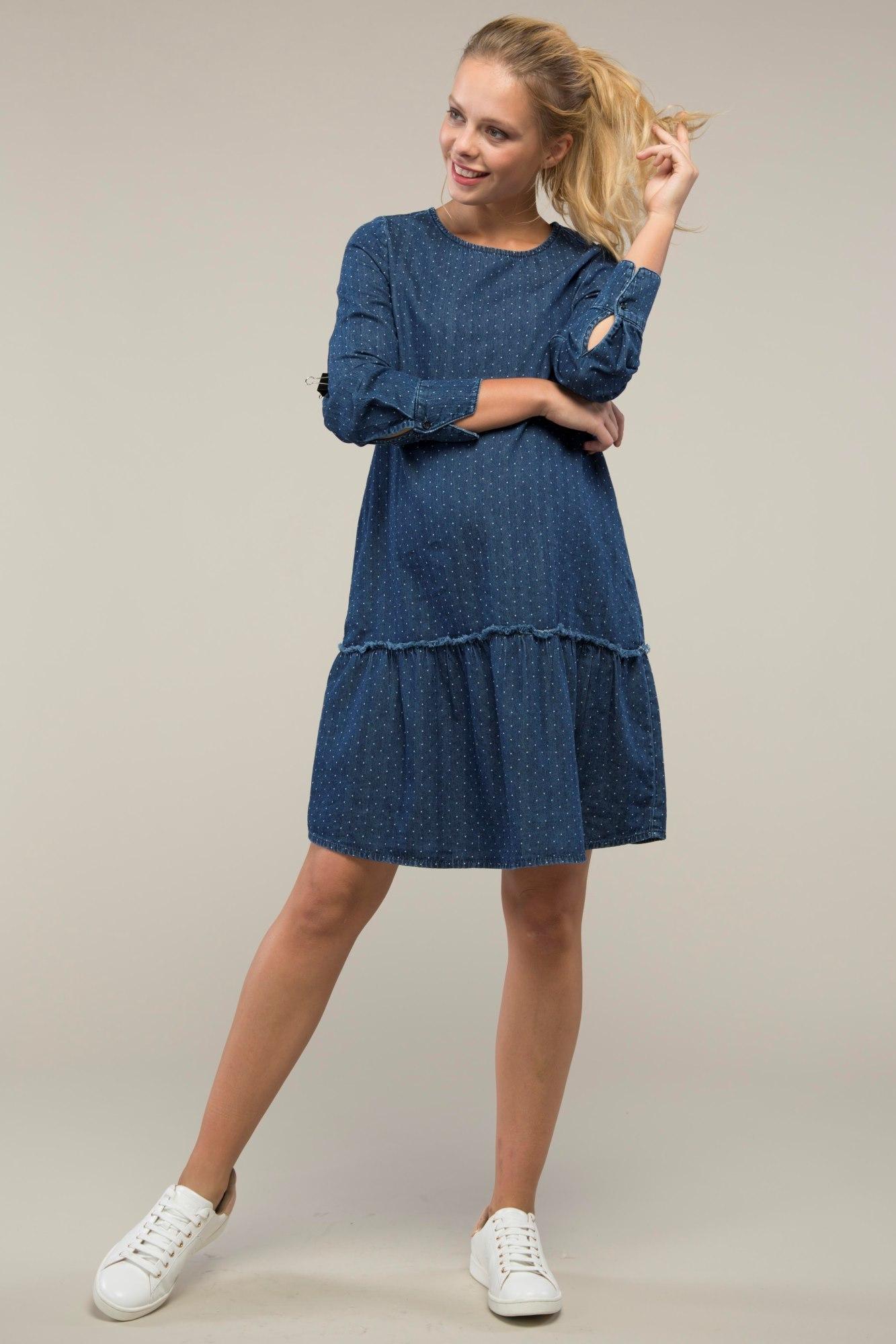 Платье для беременных 08999 синий