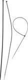 ЗУБР нейлоновые черные 4,8x500мм, 100шт