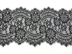 Кружево реснички черное (21х290 см)