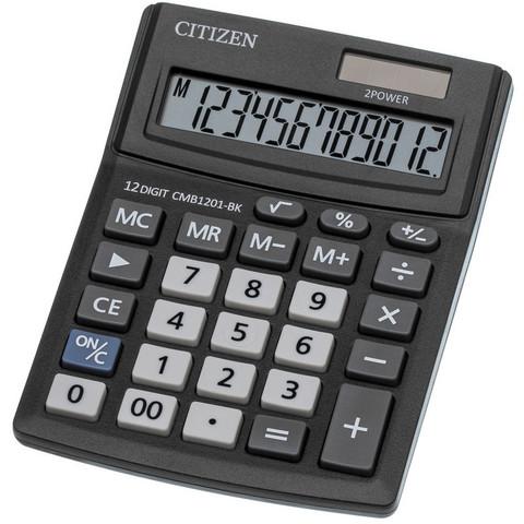 Калькулятор настольный КОМПАКТНЫЙ Citizen BusinessLine CMB1201-BK 12-разрядный черный