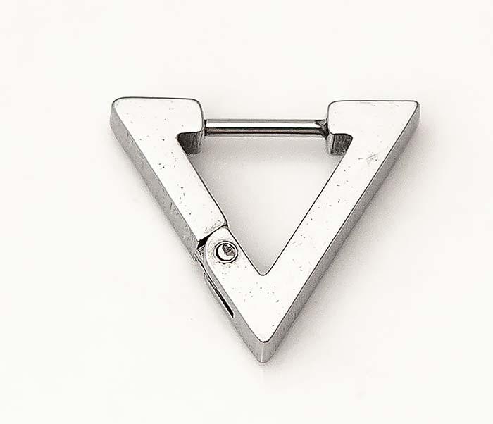 ER456-1 Мужские серьги треугольник из стали