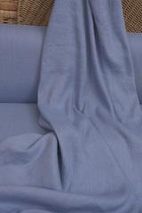 Лен с вискозой смягченный-крэш, цвет сиренево-голубой