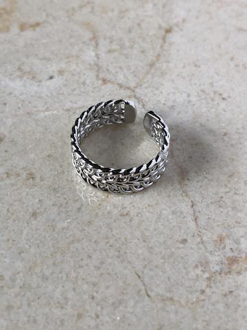 Кольцо Олимпус, серебряный цвет