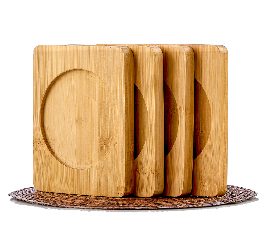 Для чашек Подставка для пиал, чашек и кружек, бамбуковая, 9,5*11,5 см bamboo-coster-teastar.PNG
