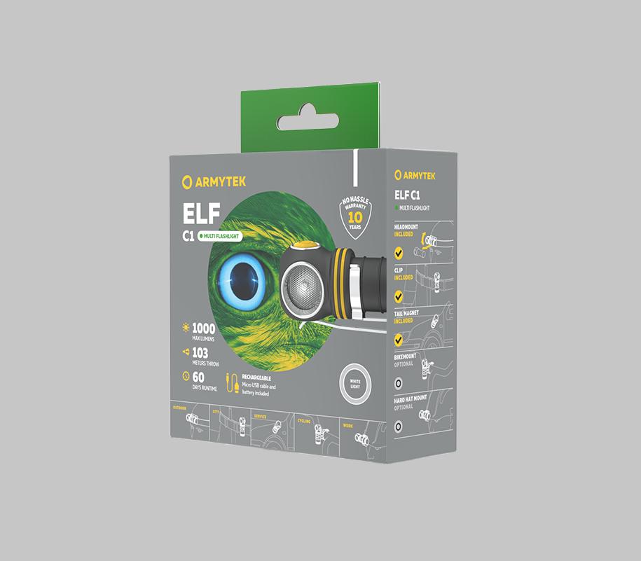 Налобный LED-фонарь Armytek Elf C1 Micro USB - фото 5