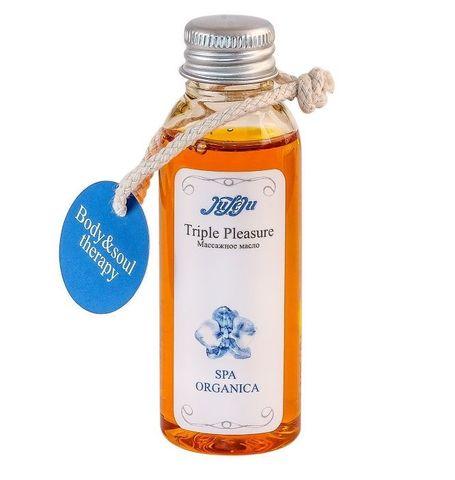 Массажное масло Triple Pleasure Spa Organica - 50 гр.
