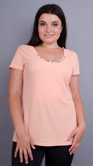 Дона. Жакет+блуза для жінок великих розмірів. Персик.