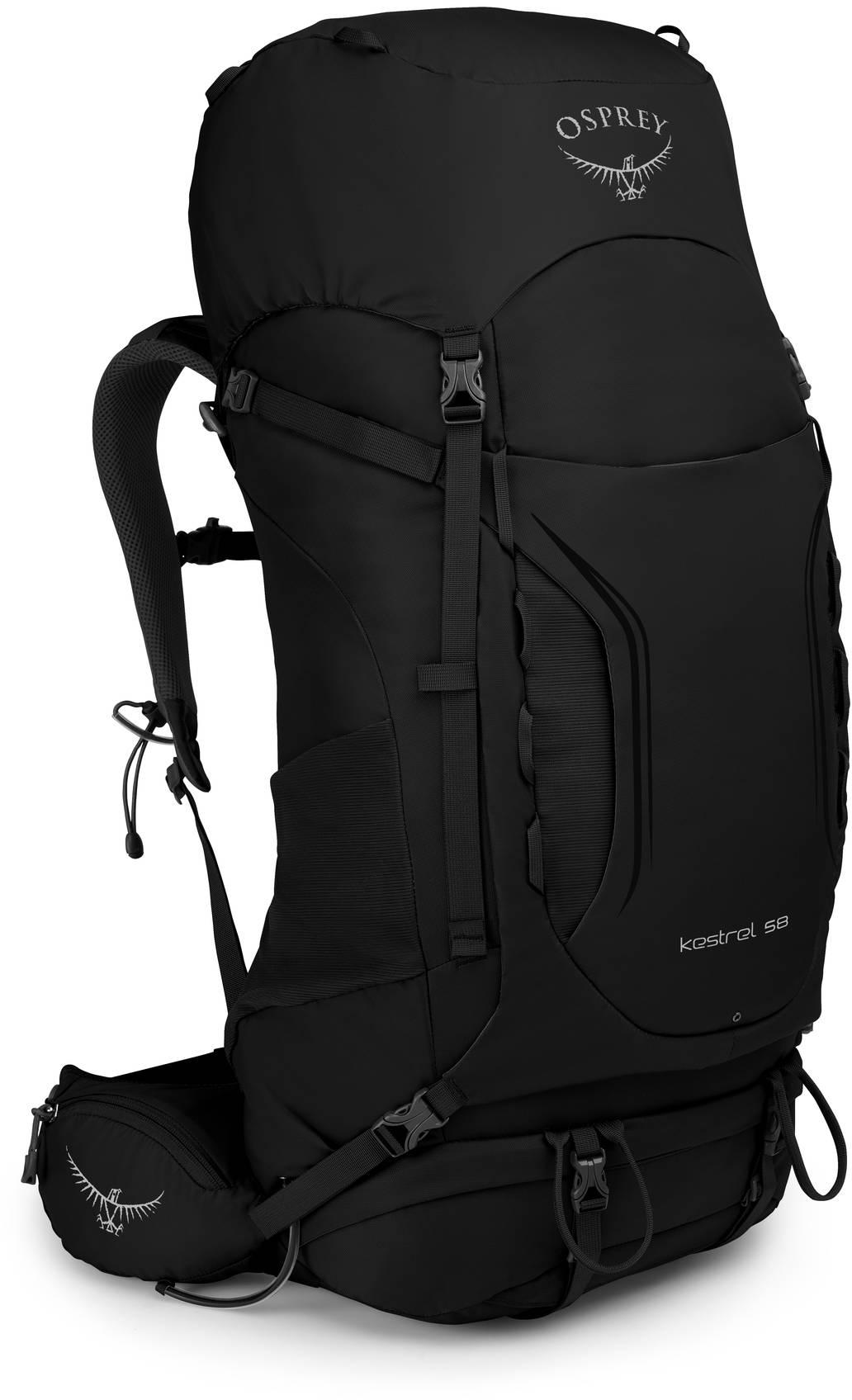 Kestrel Рюкзак туристический Osprey Kestrel 58 Black (2019) Kestrel_58_S19_Side_Black_web.jpg