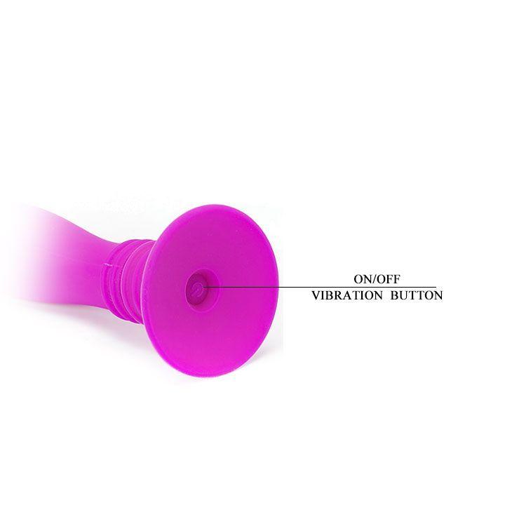 Анальный вибростимулятор Booty Passion на присоске - 12 см.