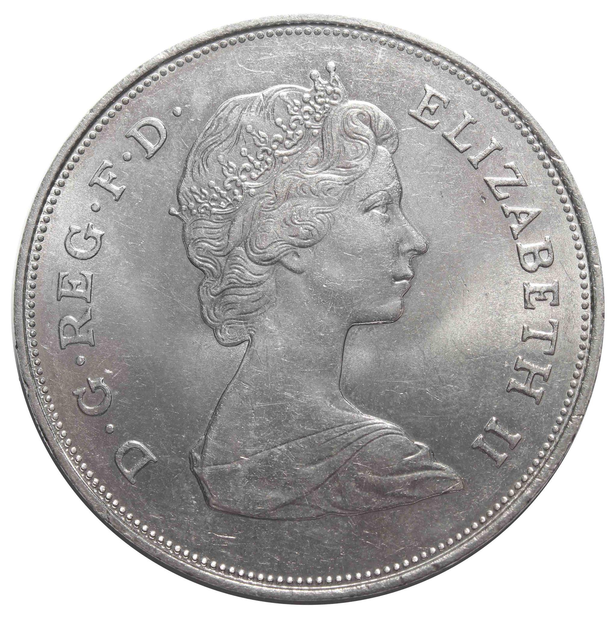 25 новых пенсов 1981 Великобритания (на свадьбу принца Чарльза и леди Дианы) XF-AU