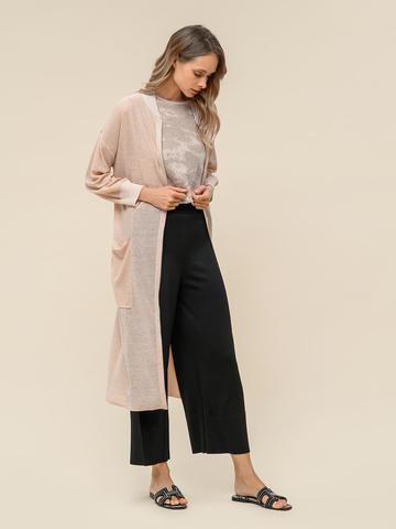 Женские брюки-клеш черного цвета из шелка и вискозы - фото 3