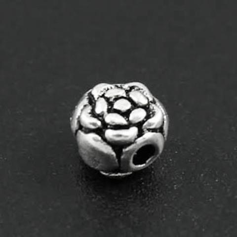 Бусина Роза 4,7х4,4 мм серебро 925