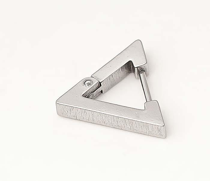 ER456-1 Мужские серьги треугольник из стали фото 03
