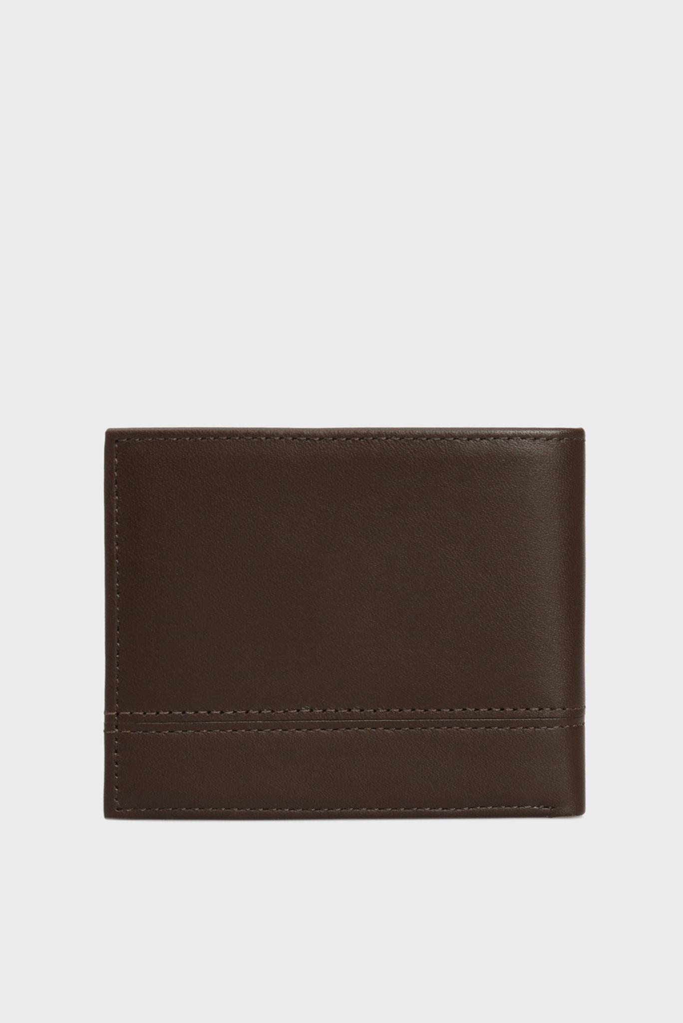 Мужской коричневый кожаный кошелек TH ESSENTIAL MINI CC Tommy Hilfiger