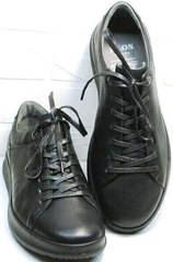 Модные черные кроссовки для повседневной жизни осень весна Ikoc 1725-1 Black.