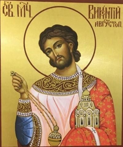 Икона святой Викентий Августопольский на дереве на левкасе мастерская Иконный Дом