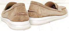 Бежевые туфли женские на низком каблуке Anna Lucci 2706-040 S Beige.