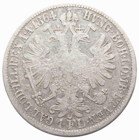 1 флорин 1864 год, Австрия. VF