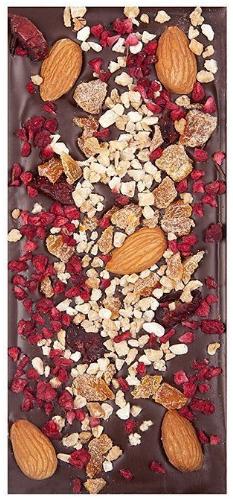 Темный шоколад с клюквой и миндалем, ФРЕНЧКИСС, 120г