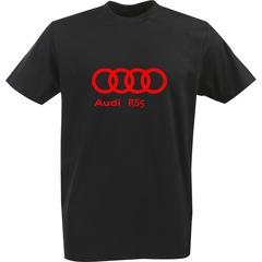 Футболка с однотонным принтом Ауди (Audi RS5) черная 0040