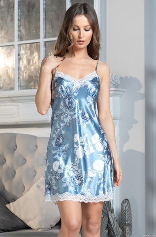 Сорочка женская Mia-Amore PARIS PIONS ПАРИЖ ПИОН 8990 голубой