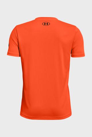 Детская оранжевая футболка UA Project Rock BrhmaBull SS Under Armour